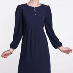 Anthropologie Hi There Karen Walker Navy Dress 10